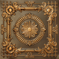 N 118 - Antique Gold-Nova-decorative-ceiling-tiles-antique-decor