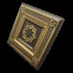 N137-Antique-Brass-Side-View-Nova-decorative-ceiling-tiles-antique-decor
