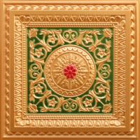 N104-Gold-Green-Red-Nova-decorative-ceiling-tiles-antique-decor