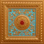 N104-Gold-Sky Blue-Red-Nova-decorative-ceiling-tiles-antique-decor
