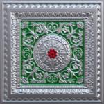 N104-Silver-Green-Red-Nova-decorative-ceiling-tiles-antique-decor