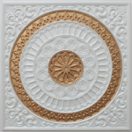 N 116 - Pearl White - Gold-Nova-decorative-ceiling-tiles-antique-decor