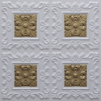 N119 - Glamor White - Brass-Nova-decorative-ceiling-tiles-antique-decor