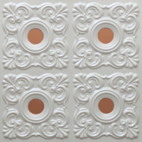 N123 - Pearl White - Copper-Nova-decorative-ceiling-tiles-antique-decor