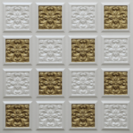 N124 – Pearl White – Brass-Nova-decorative-ceiling-tiles-antique-decor