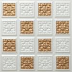 N 124 – Pearl White – Gold-Nova-decorative-ceiling-tiles-antique-decor