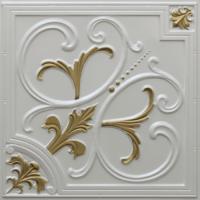 N 129 - Pearl White - Brass-Nova-decorative-ceiling-tiles-antique-decor