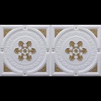 N 4101 - Glamor White - Brass-Nova-decorative-ceiling-tiles-antique-decor