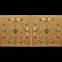 N4122-Gold-Green-Nova-decorative-ceiling-tiles-antique-decor