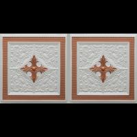 N4125 Pearl White Copper Nova decorative ceiling tiles antique decor