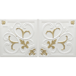 N4129 Pearl White Brass-Nova-decorative-ceiling-tiles-antique-decor