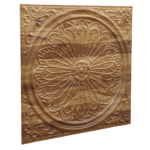 N110 Natural Wood Side View-Nova-decorative-ceiling-tiles-antique-decor