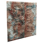 N115 – Rusty Old Paint Side View-Nova-Decorative -Ceiling-Tiles-Antique-decor-Nova-Decorative -Ceiling-Tiles-Antique-decor