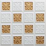 N150-Pearl White-Gold-Nova-decorative-ceiling-tiles-antique-decor
